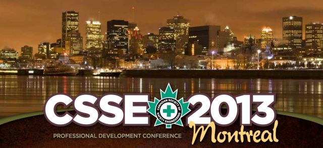CSSE Conference 2013 Montreal