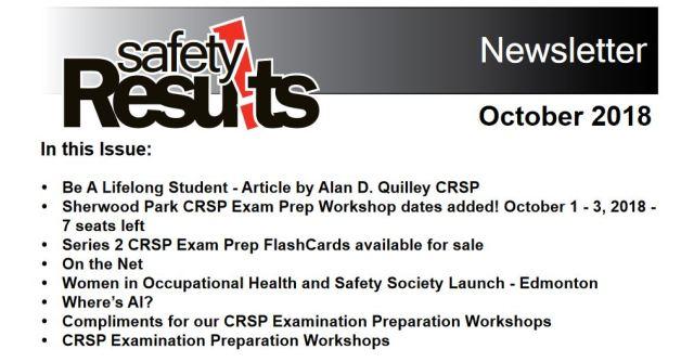 Newsletter Oct 18